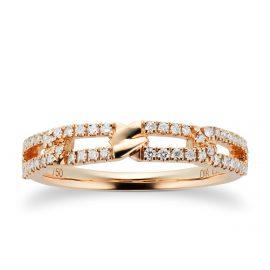 Harmony 18ct Yellow Gold 0.20cttw Diamond Stacker Ring - Ring Size K
