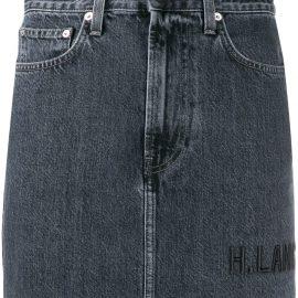 Helmut Lang Femme Hi mini denim skirt - Grey