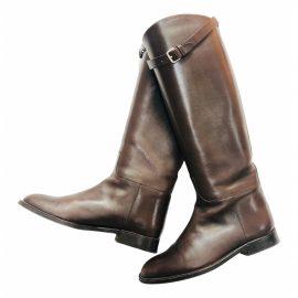 Hermès Bardigiano leather riding boots