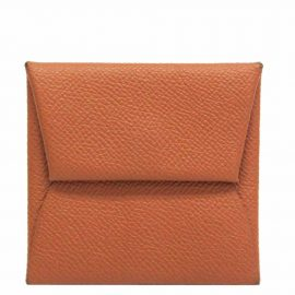 Hermes Brown Epsom Leather Bastia Wallet