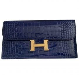 Hermès Constance alligator wallet