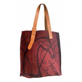 Hermès Etrivière II cloth weekend bag