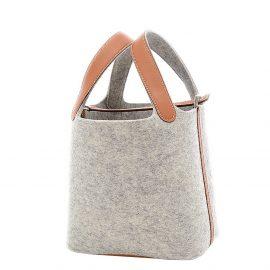 Hermes Grey Swift Leather Picotin Lock 18 PM Top Handle Bag