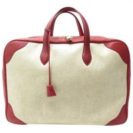 Hermès Leather travel bag