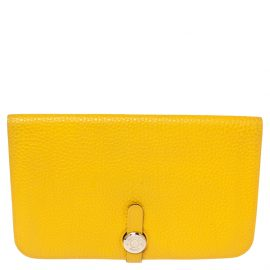 Hermes Soleil Togo Leather Dogon Duo Wallet