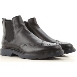 Hogan Chelsea Boots for Men, Black, Leather, 2021, 10 7.5 8 9.5