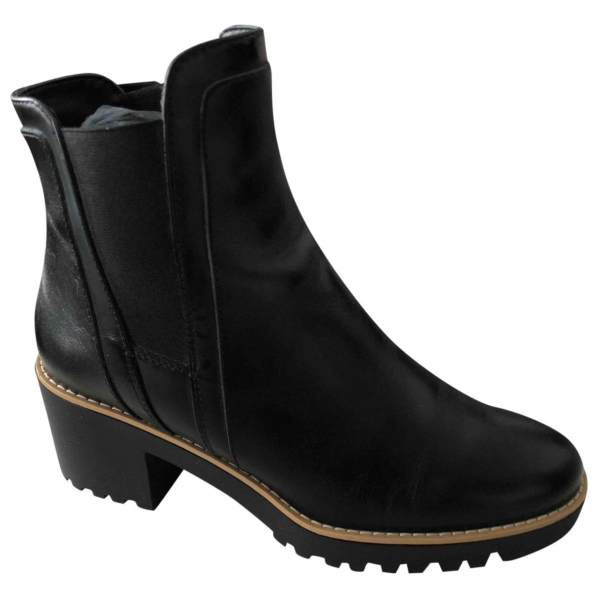 Hogan N Black Leather Ankle boots for Women