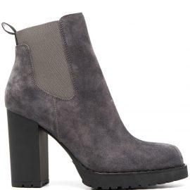 Hogan block-heel Chelsea boots - Grey