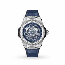 Hublot Big Bang One Click Sang Bleu Steel Blue Diamonds Automatic 39mm