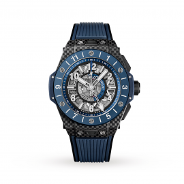 Hublot Big Bang Unico Gmt Carbon Blue Ceramic Automatic 45mm