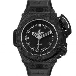 Hublot Black Carbon Fibre Titanium Big Bang King Power Oceanographic 731.QX Men's Wristwatch 48MM