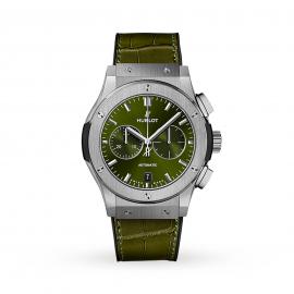 Hublot Classic Fusion Chronograph Titanium Green Automatic 42mm