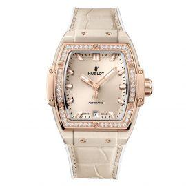 Hublot Spirit Of Big Bang Beige Ceramic & King Gold Diamond Watch