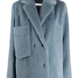 Inès & Maréchal blue double-breasted coat