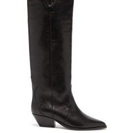 Isabel Marant - Denvee Suede Knee-high Boots - Womens - Black