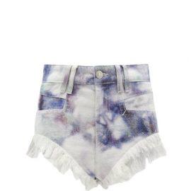 Isabel Marant - Eneida High-rise Tie-dye Denim Shorts - Womens - Blue White