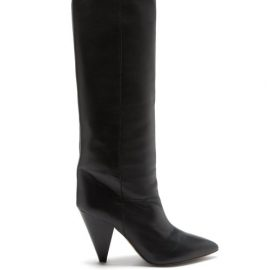 Isabel Marant - Loens Slouchy Knee-high Leather Boots - Womens - Black