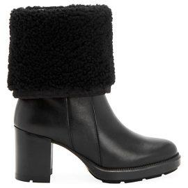 Ishana Block-Heel Shearling-Lined Boots