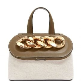 JW Anderson small Chain Lid basket bag - Neutrals