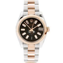 Jacquie Aiche - Vintage Rolex Datejust Diamond & Rose-gold Watch - Womens - Pink Multi
