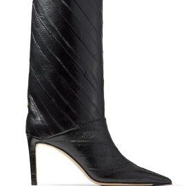Jimmy Choo Beren 85mm knee-high boots - Black