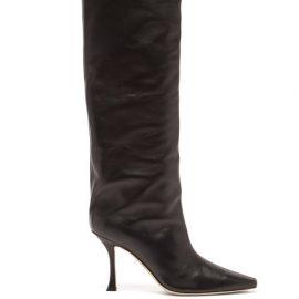 Jimmy Choo - Chad 90 Leather Knee-high Boots - Womens - Black