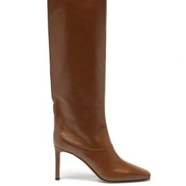Jimmy Choo - Mahesa 85 Knee-high Leather Boots - Womens - Tan