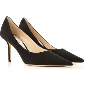 Jimmy Choo Pumps & High Heels for Women, Black, Suede leather, 2021, 6.5 7.5