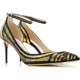 Jimmy Choo Pumps & High Heels for Women On Sale in Outlet, Gold, satin, 2021, 3.5 4.5