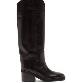Jimmy Choo - Tonya Leather Knee-high Boots - Womens - Black