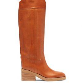 Jimmy Choo - Tonya Leather Knee-high Boots - Womens - Tan