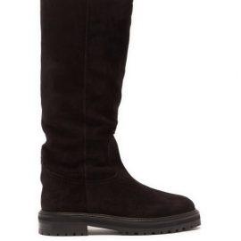 Jimmy Choo - Trek-sole Suede Knee-high Boots - Womens - Black