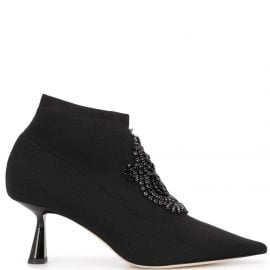 Jimmy Choo bead-detailing 70mm ankle boots - Black