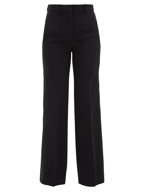 Joseph - Morissey Side-stripe Cady Trousers - Womens - Black