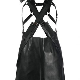 Junya Watanabe faux-leather buckled skirt - Black