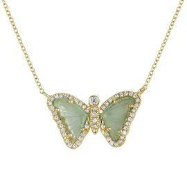 KAMARIA - Mini Green Tourmaline Butterfly