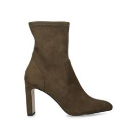 KG Kurt Geiger Thara - Khaki Block Heel Sock Boots