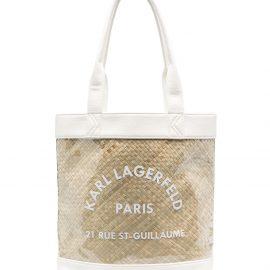 Karl Lagerfeld Kids transparent beach bag - Neutrals