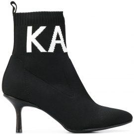 Karl Lagerfeld logo socks boots - Black
