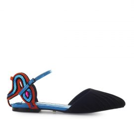 Kat Maconie Talia Black Turquoise Ballet Shoe