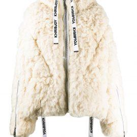 Khrisjoy hooded wool padded coat - White