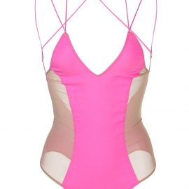 Kiki de Montparnasse Le Shock mesh-panel bodysuit - Pink