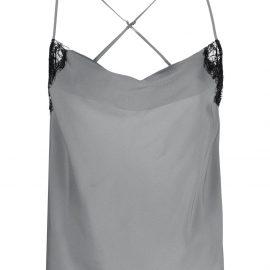 Kiki de Montparnasse cowl-neck camisole top - Silver