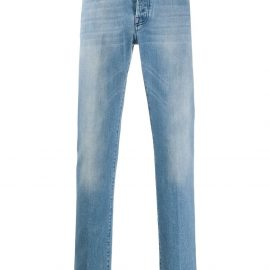 Kiton low-rise straight jeans - Blue
