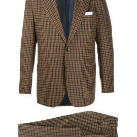Kiton plaid check suit - Brown