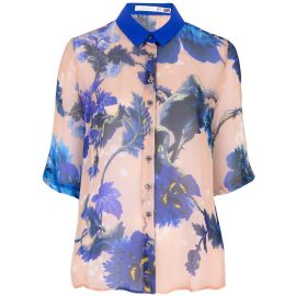 Klements - Mildred Shirt In Gothic Floral Blues Print