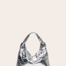 Knot Evening Bag - Silver