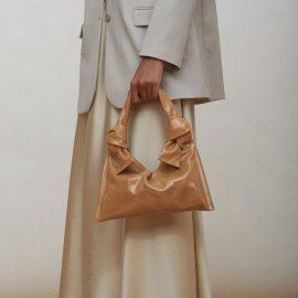 Knot Evening Bag - Tan