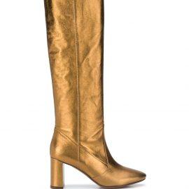 L'Autre Chose metallic-effect boots - GOLD