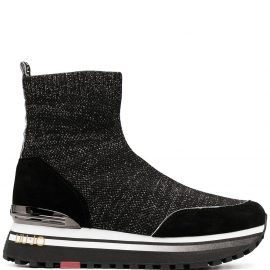 LIU JO stretch sock boots - Black